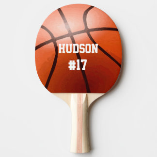 Personalized Basketball Ping Pong Paddle