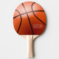 Personalized Basketball Ping Pong Paddle at Zazzle
