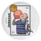 Personalized Basketball Plate