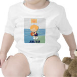 Personalized basketball player cartoon baby creeper