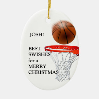 PERSONALIZED BASKETBALL PLAYER GIFT ORNAMENTS