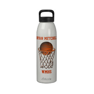 Personalized Basketball Player Name Liberty Bottle Water Bottle