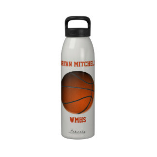 Personalized Basketball Player Name Liberty Bottle Reusable Water Bottles
