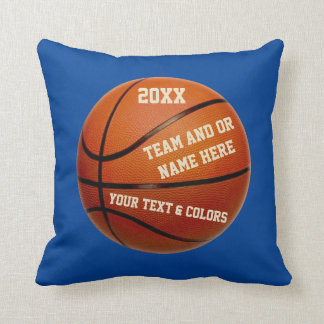 Personalized Basketball Players Gifts YOUR COLORS Throw Pillow