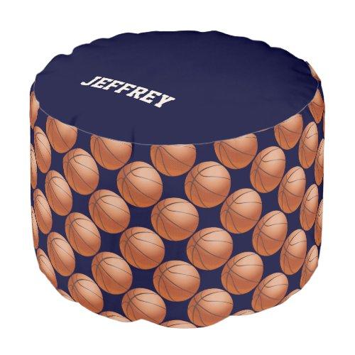 Personalized Basketball Round Pouf Cushion/Seat