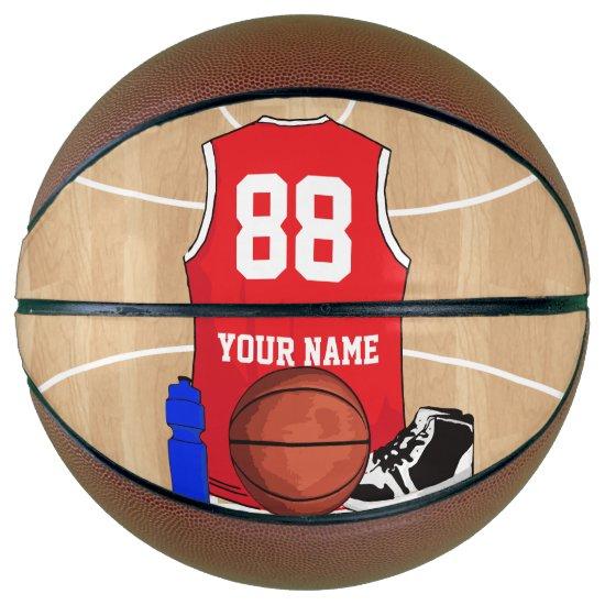 Personalized Basketball shirt on court