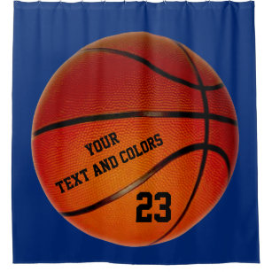 Personalized Basketball Shower Curtain Your Text
