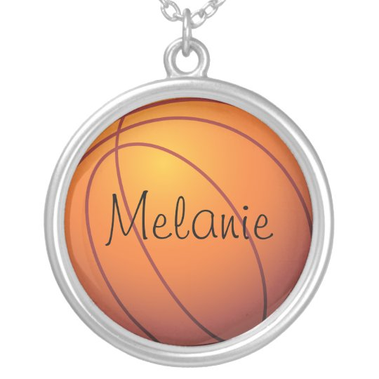 Personalized Basketball Silver Plated Necklace