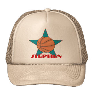 Personalized Basketball Star Hat