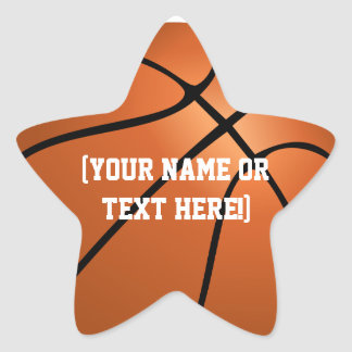 Personalized Basketball Star stickers