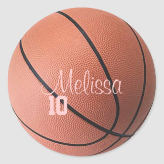 Personalized Basketball Stickers
