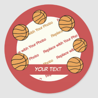 Personalized Basketball Stickers Add Photo & Text