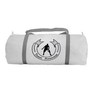Personalized Basketball Team Banner Duffle Bag