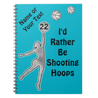 Personalized Basketball Team Gift Ideas for Girls Notebook