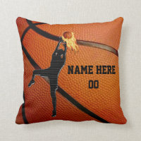 Personalized Basketball Throw Pillow withYOUR TEXT