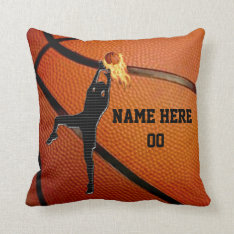 Personalized Basketball Throw Pillow Withyour Text at Zazzle