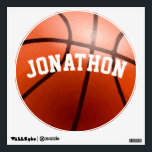 "Personalized Basketball Wall Decal<br><div class=""desc"">Personalized Basketball Wall Decal Perfect for the Man Cave or Boy&#39;s Teen&#39;s Bedroom or Game Room with His Name</div>"