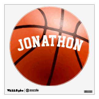 Personalized Basketball Wall Decal