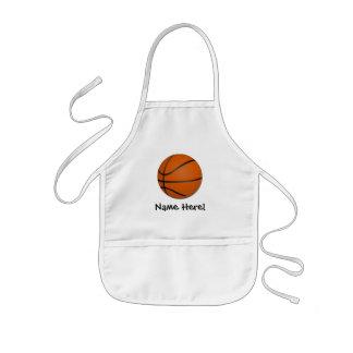 Personalized Basketball Wood Floor Kids' Apron