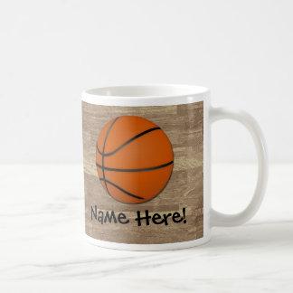 Personalized Basketball Wood Floor Coffee Mug