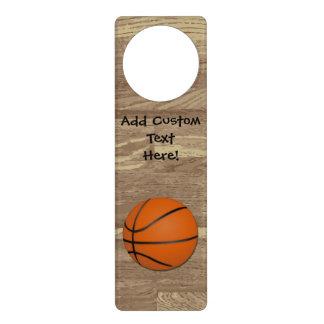 Personalized Basketball Wood Floor Door Knob Hanger