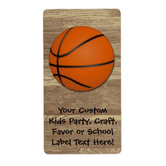 Personalized Basketball Wood Floor Shipping Labels