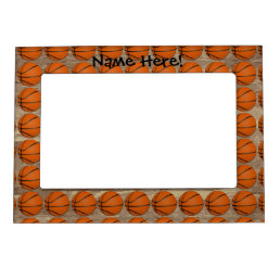Personalized Basketball Wood Floor Magnetic Photo Frame