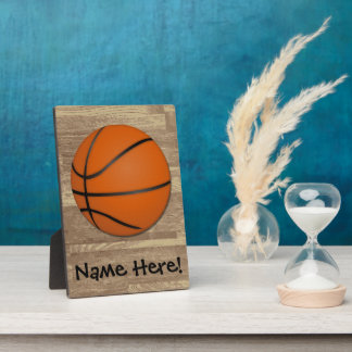 Personalized Basketball Wood Floor Plaque