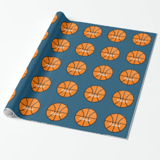 Personalized Basketball Wrapping Paper