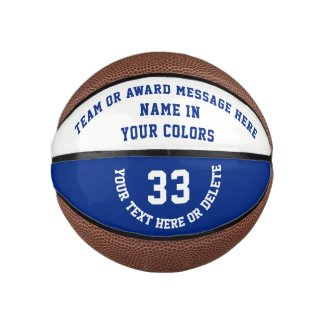 Personalized Basketballs in Your Colors and Text Basketball