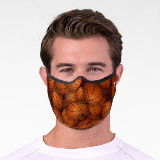 Personalized basketballs sports pattern premium face mask