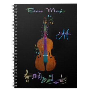 Personalized Bass Magic Music Notebook