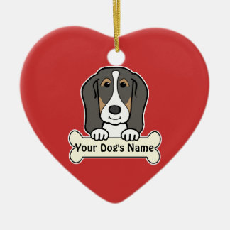 Personalized Basset Hound Ceramic Ornament