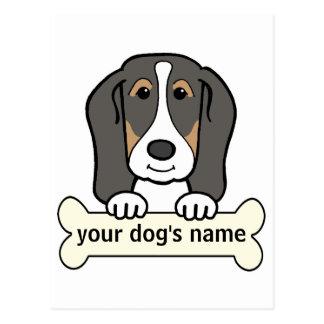 Personalized Basset Hound Postcard