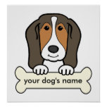 Personalized Basset Hound Poster