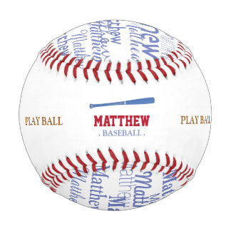 personalized bat and play baseball