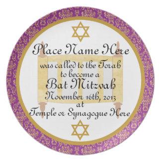 Personalized Bat Mitzvah Keepsake Plate Plaque
