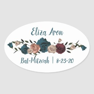 Personalized Bat Mitzvah Sticker
