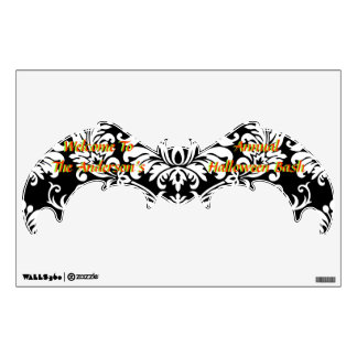 Personalized Bat Welcome to Halloween  Wall Decal