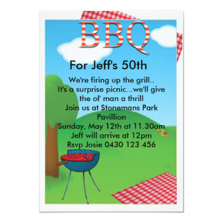 Personalized BBQ Custom Card
