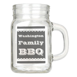 Personalized BBQ Mason Jar Mug