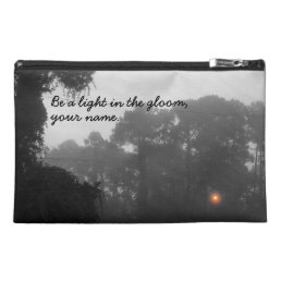 "Personalized ""Be a light in the gloom"" Travel Accessory Bag"