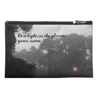 """Personalized """"Be a light in the gloom"""" Travel Accessory Bag"""