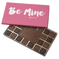 Personalized 'Be Mine' Chocolate Box - Dark Pink