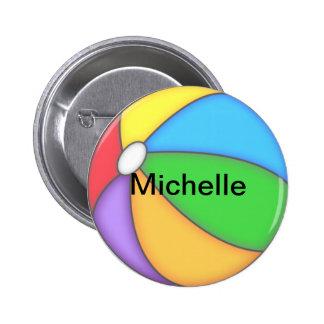 Personalized Beach Ball Button