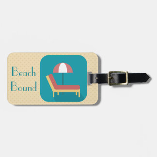 Personalized Beach Bound Lounger Bag Tag