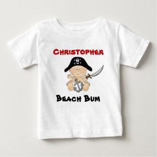 Personalized Beach Bum Baby Pirate Tee ~ Boys