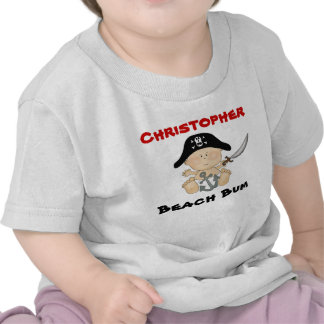 Personalized Beach Bum Baby Pirate Tee Boys