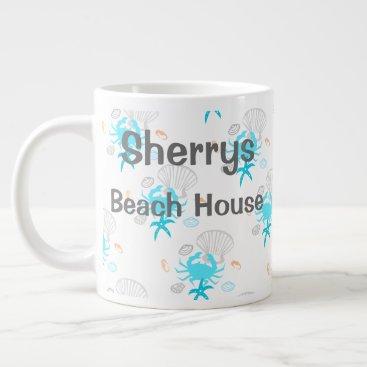 Coffee Themed Personalized Beach House Coffee Mug