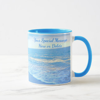 Personalized Beach Mugs with Gorgeous Beach Sunset